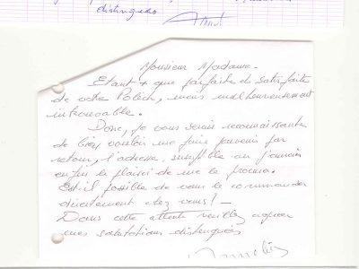 Mme P.A. (11) Mme A (13) Mons. M.C. (37)